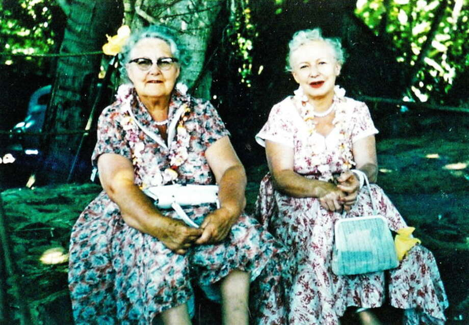 When cleaning out my mother's house last September, my sisters and I found this picture of my grandmother and her sister (Alta Rice and her sister Auntie Bunin) in  Hawaii. The date on the back says July 1955. -- Norma Sturdivant Photo: Norma Sturdivant, Reader Submiss