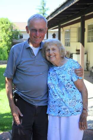 My dear aunt, Dorothy Kessler, visited us in Presidio, Texas, in the fall of 1940, when I was two.  Here we are again, in Mountain View, California a few weeks ago. She is now Dorothy Weber, and will be 92 in December. But is still as pretty and as sharp as she was 72 years  ago!-- Maurice Fox. Photo: Maurice Fox, Reader Submission