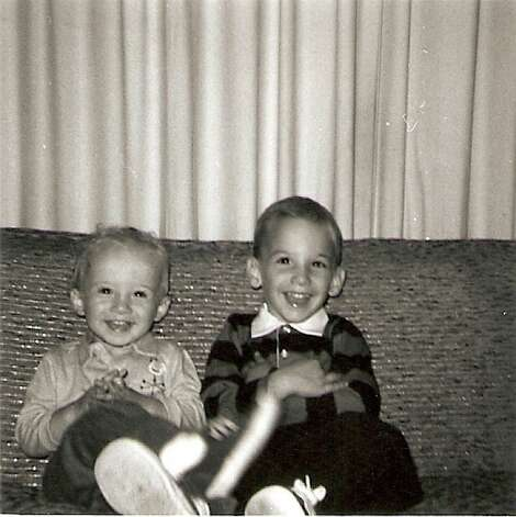 "Brothers Al (left) and Ken Slavin were 3 and 5, respectively and living in Greenwich, Conn., when this photo was taken in about 1966. ""Growing up, Al and I were particularly close because my father's U.S. Coast Guard career necessitated frequent moving,"" says Ken. ""So we were each other's best friend and did everything together."" Photo: COURTESY"