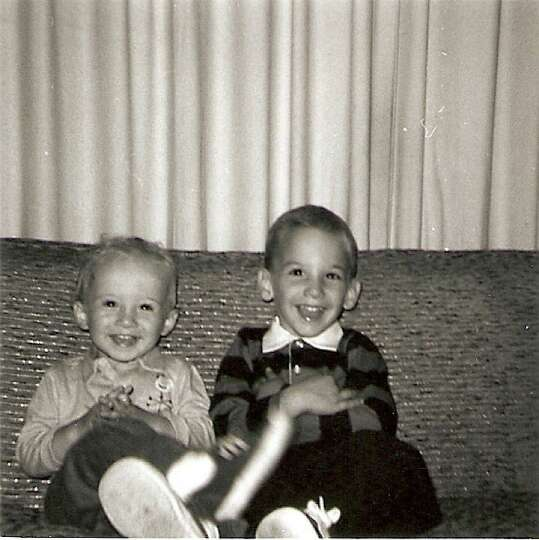 Brothers Al (left) and Ken Slavin were 3 and 5, respectively and living in Greenwich, Conn., when th