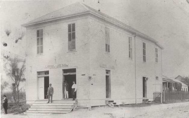 This photo, circa 1890, shows the two story Girard Grocery and Beer Saloon  located at 301 N. San Saba. -- Joe V. Girard Photo: Joe Girard, Reader Submission