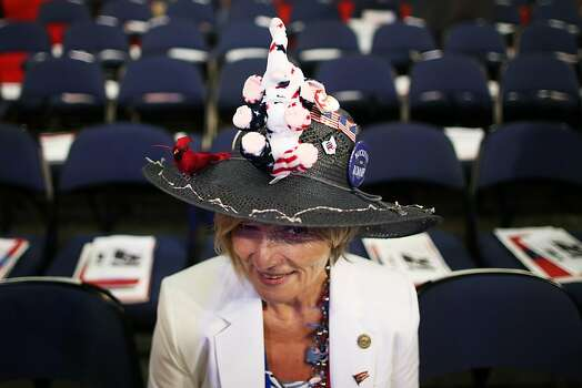 TAMPA, FL - AUGUST 28: Delegate Ranae Lentz of Bellefontaine, Ohio sits on the floor before the start of the second day of the Republican National Convention at the Tampa Bay Times Forum on August 28, 2012 in Tampa, Florida. Today is the first full session of the RNC after the start was delayed due to Tropical Storm Isaac. Photo: Chip Somodevilla, Getty Images
