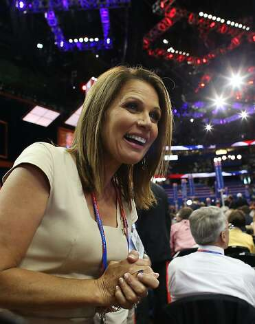 TAMPA, FL - AUGUST 28: U.S. Rep. Michele Bachmann (R-MN) walks the floor during the Republican National Convention at the Tampa Bay Times Forum on August 28, 2012 in Tampa, Florida. Today is the first full session of the RNC after the start was delayed due to Tropical Storm Isaac. Photo: Spencer Platt, Getty Images