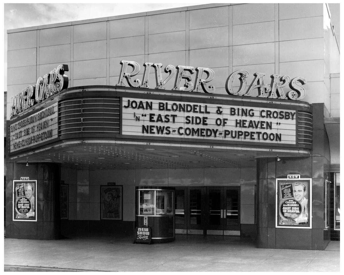 River Oaks Theatre, exterior, Houston, circa 1950s. credit: Bob Bailey Studios/Collection of Lovita Irby