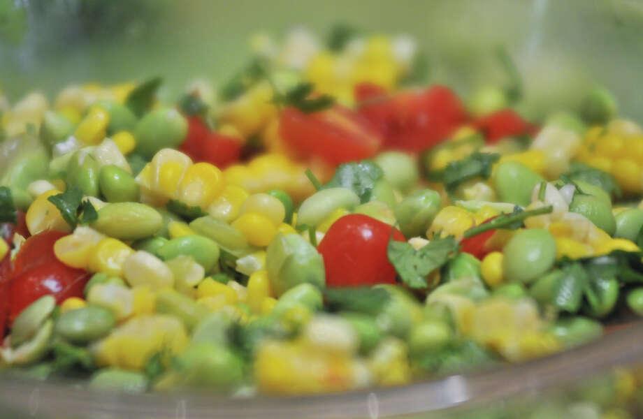 SLUG: Healthy Snacks-AssignID 443170-August 4, 2012-San Antonio, Texas-A fresh, health snack salad made by the children of Aliza Holzman-Cantu. Photo: Robin Jerstad