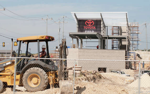The Scorpions' new facility, under construction next to Heroes Stadium, will now be called Toyota Field. Photo: For The Express-News