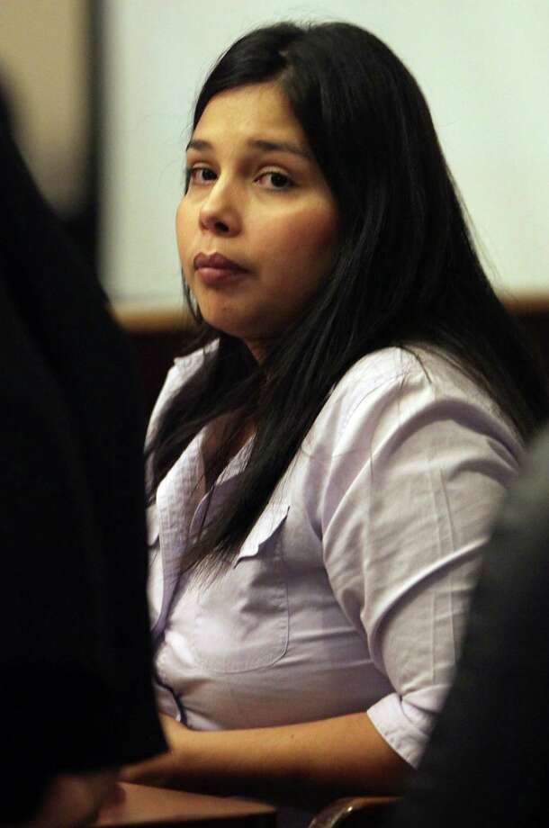 Sarah Mascorro Sifuentes sits in Judge Philip Kazen's court in the Cadena-Reeves Justice Center.  Sifuentes is on trial for injury to a child involving 22-month-old Cyleste Gonzales. Tuesday, August 28, 2012. Photo: BOB OWEN, San Antonio Express-News / © 2012 San Antonio Express-News