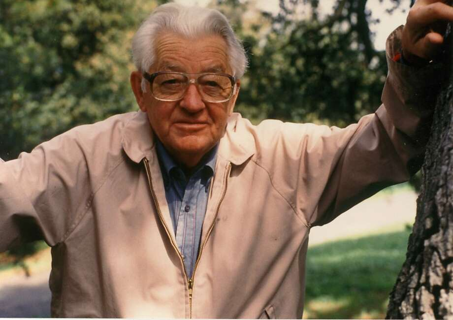 Author Wallace Stegner at home in Los Altos Hills in 1993, the year of his death Photo: Courtesy Stegner Family