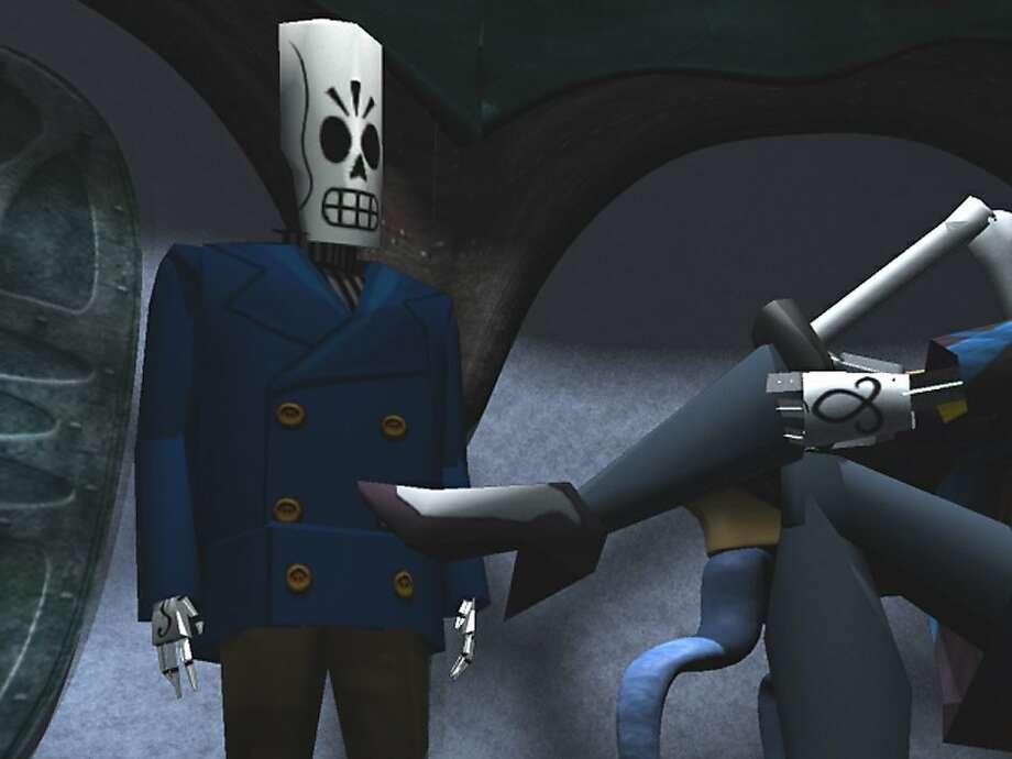 """Grim Fandango"" was a flop after its 1998 release despite a fine mix of film noir and Aztec ""Day of the Dead"" themes. Photo: Handout, SFC"