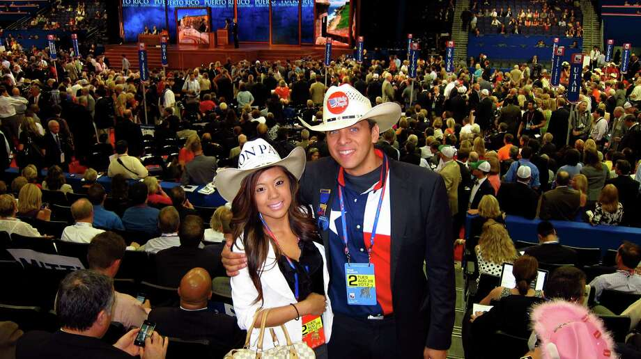 Christina Davis and Luis LaRotta went to Houston-area high schools a few miles apart, but they didn't meet until they attended the state Republican convention in June. Photo: Patti Hart