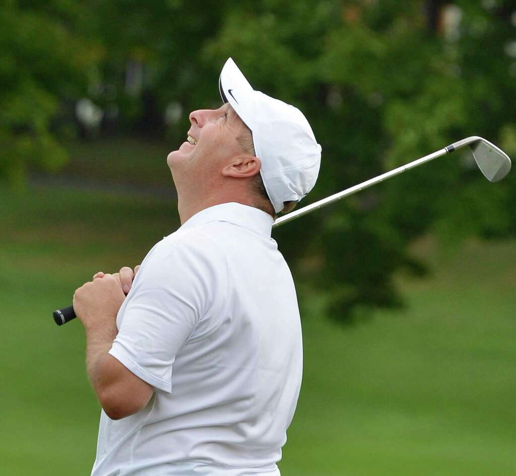 berliner repeats stroke play win times union bob mucha reacts to a putt during the final round of the northeastern new york pga