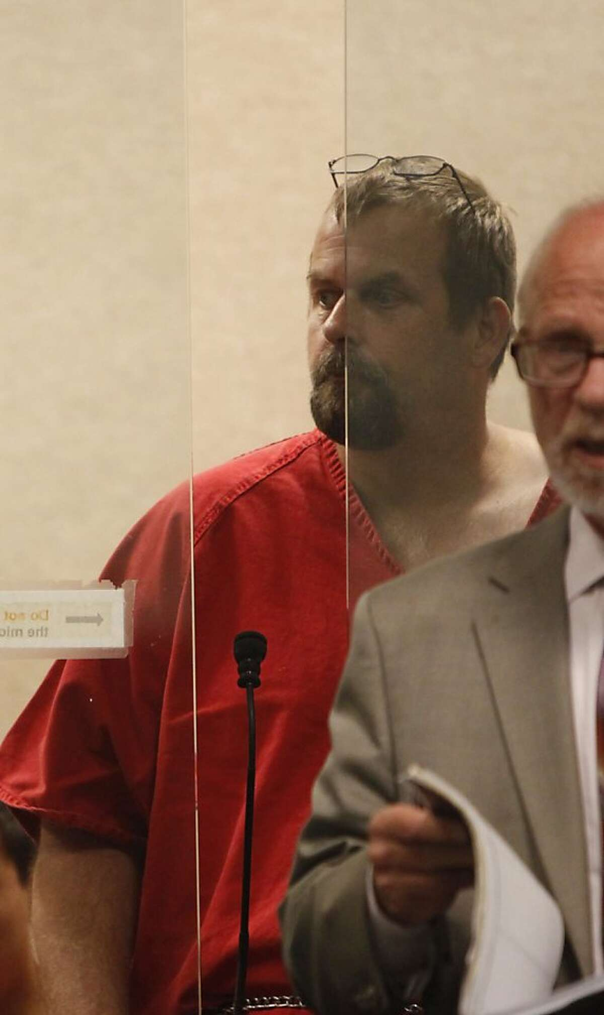 John William Kelley of Placerville makes an appearance in San Mateo County Superior Court on Tuesday, August 28, 2012 in Redwood City, Calif.