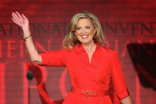 TAMPA, FL - AUGUST 28: Ann Romney wife of Republican presidential candidate, former Massachusetts Gov. Mitt Romney waves as she walks on stage during the Republican National Convention at the Tampa Bay Times Forum on August 28, 2012 in Tampa, Florida. Today is the first full session of the RNC after the start was delayed due to Tropical Storm Isaac. Photo: Mark Wilson, Getty Images / 2012 Getty Images