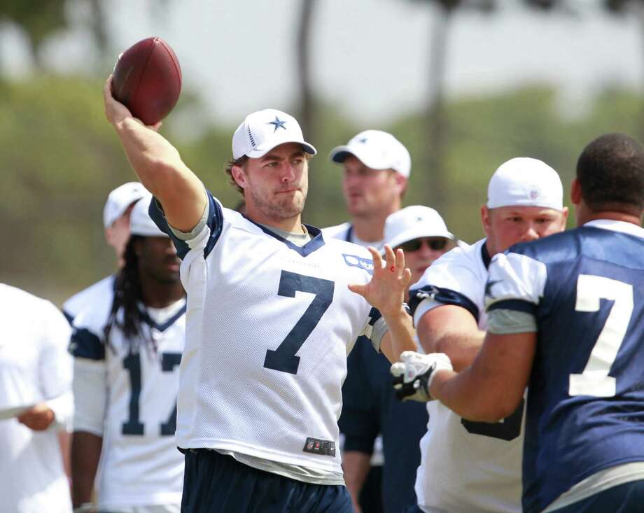 Dallas Cowboys quarterback Stephen McGee (7) during practice on Saturday, August 4, 2012, in Oxnard, California. (Ron Jenkins/Fort Worth Star-Telegram/MCT) Photo: Ron Jenkins / Fort Worth Star-Telegram
