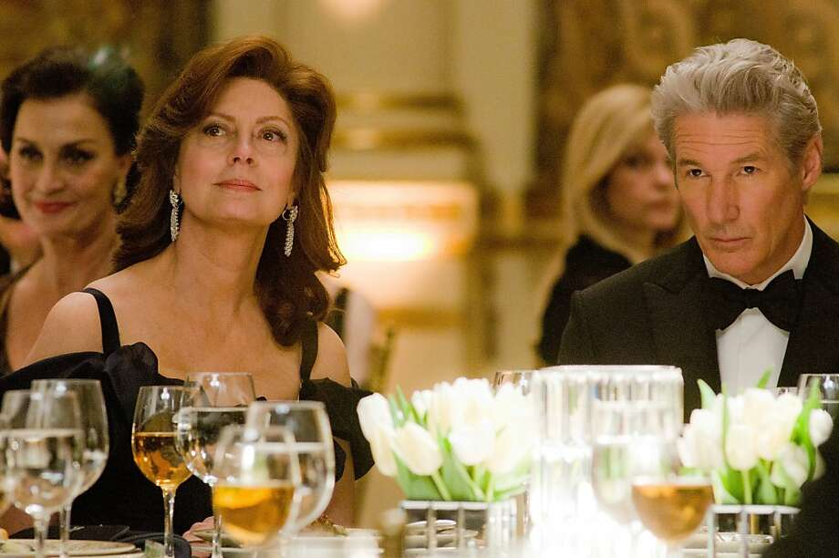 "Susan Sarandon and Richard Gere play  an elite couple in ""Arbitrage,"" a high-finance thriller by first-time director Nicholas Jarecki. Photo: Myles Aronowitz, Roadside Attractions"