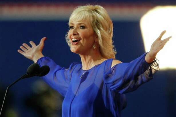 Actress Janine Turner address candidates during the Republican National Convention in Tampa, Fla., on Tuesday, Aug. 28, 2012. (AP Photo/Lynne Sladky) (AP)