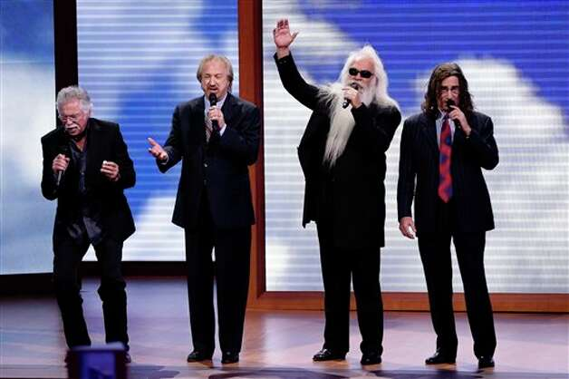 The Oak Ridge Boys perform during the Republican National Convention in Tampa, Fla., on Tuesday, Aug. 28, 2012. (AP Photo/J. Scott Applewhite) Photo: J. Scott Applewhite, AP / AP