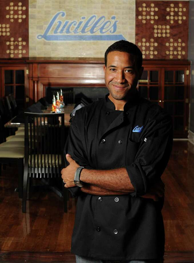 Chef Christopher Williams thinks his great-grandmother Lucille Bishop Smith would be flattered by her namesake restaurant in the Museum District. Photo: Dave Rossman / © 2012 Dave Rossman
