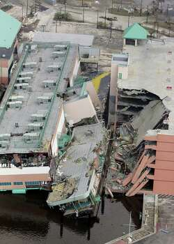 A casino damaged by Hurricane Katrina is shown in this aerial view Wednesday, Aug. 31, 2005, in Biloxi, Miss. Photo: DAVID J. PHILLIP, AP / AP