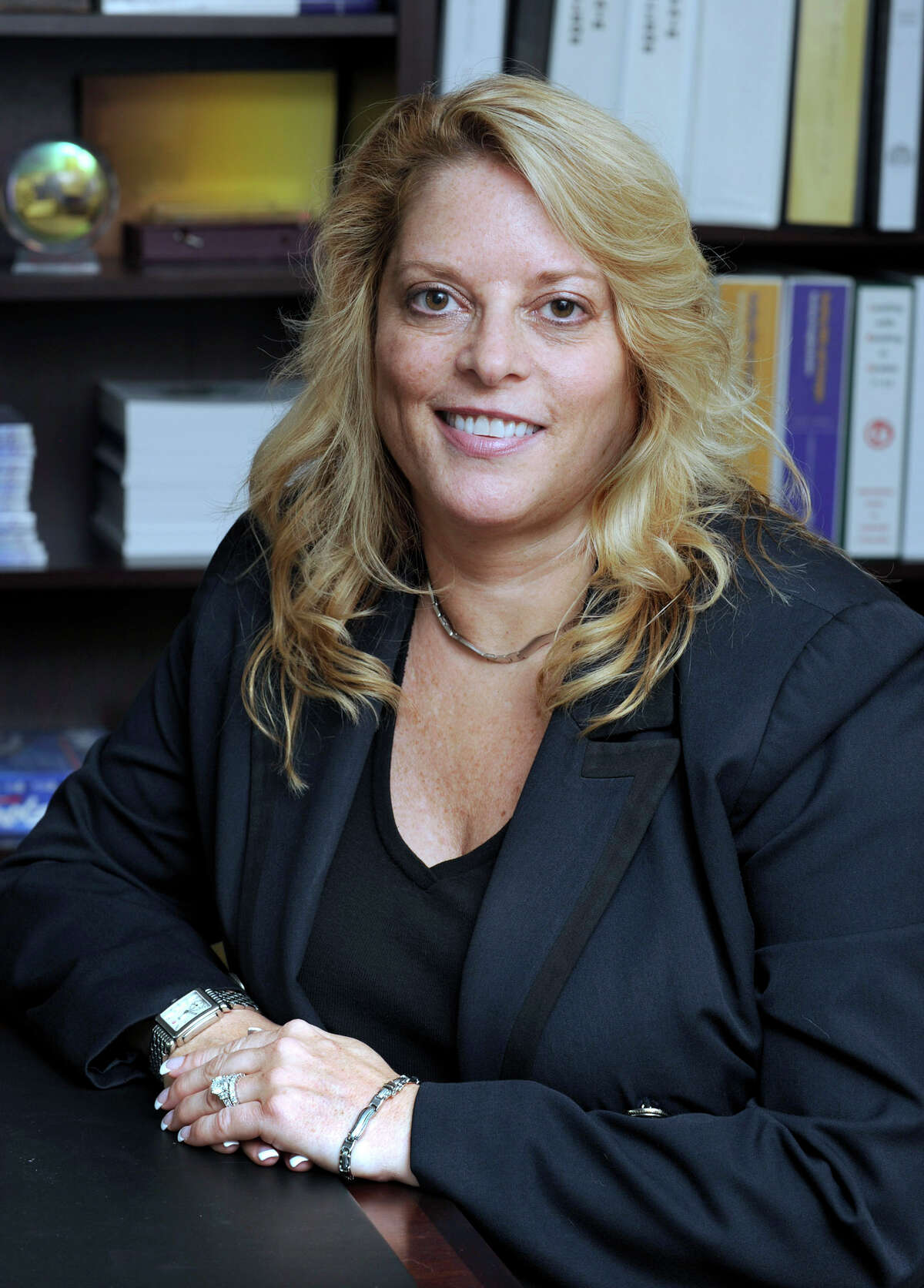 Stacey Gross is the new principal of Ridgefield High School. She is photographed at the school Wednesday, Aug. 29, 2012.
