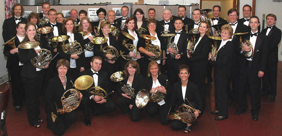 The 40-member Connecticut French Horn Orchestra, made up of 32 professional musicians and eight music students, will perform in concert to raise funds for charity Saturday, Sept. 8, in North Haven, and Sunday, Sept. 9 in Manchester. Photo: Contributed Photo