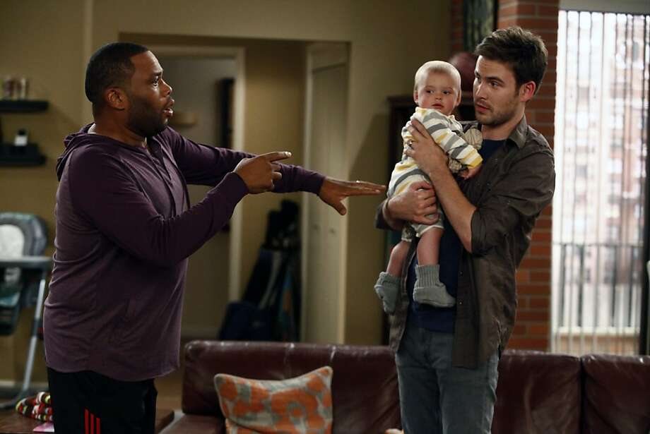 Anthony Anderson  (left) and Zach Cregger play two of the guys with kids in NBC's latest attempt to broaden its sitcom audience beyond its core viewers. Photo: Vivian Zink, NBC