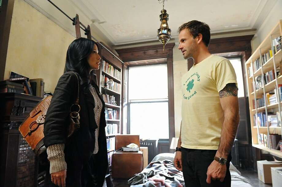 "Jonny Lee Miller (right) stars as a modern Sherlock Holmes and Lucy Liu plays Dr. Joan Watson in the new series ""Elementary"" (CBS, 10 p.m. Thursdays). Photo: David M. Russell, CBS"