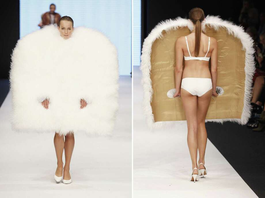 Sweden, the land that gave us delicious tiny meatballs and affordable contemporary furniture, is also responsible for some of the oddest fashion statements on the planet. Here is a veritable smorgasbord of questionable designs from Mercedes-Benz Stockholm Fashion Week. Photo: Andreas Rentz, Getty Images / 2012 Getty Images