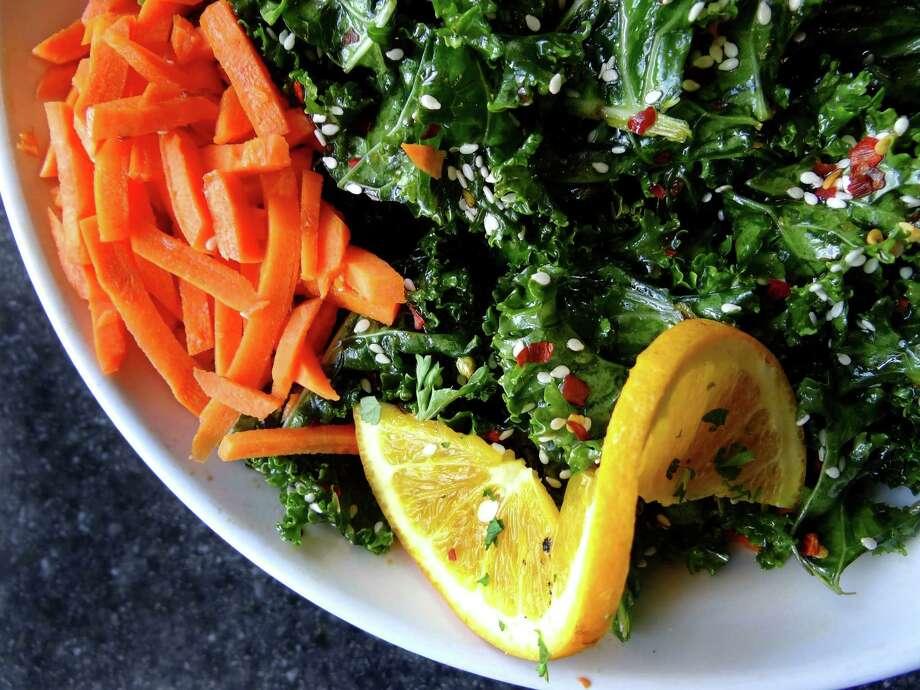 The Kale salad at Green Vegetarian Cuisine at Alon on Tuesday, Aug. 28, 2012. Photo: Billy Calzada, San Antonio Express-News / © San Antonio Express-News