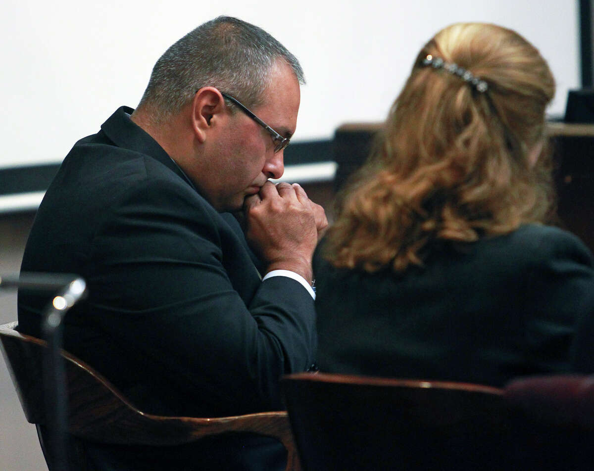 The defendant contemplates as trial proceedings begin for Gilbert John Sullaway in his trial for criminal negligent homocide on August 29, 2012.