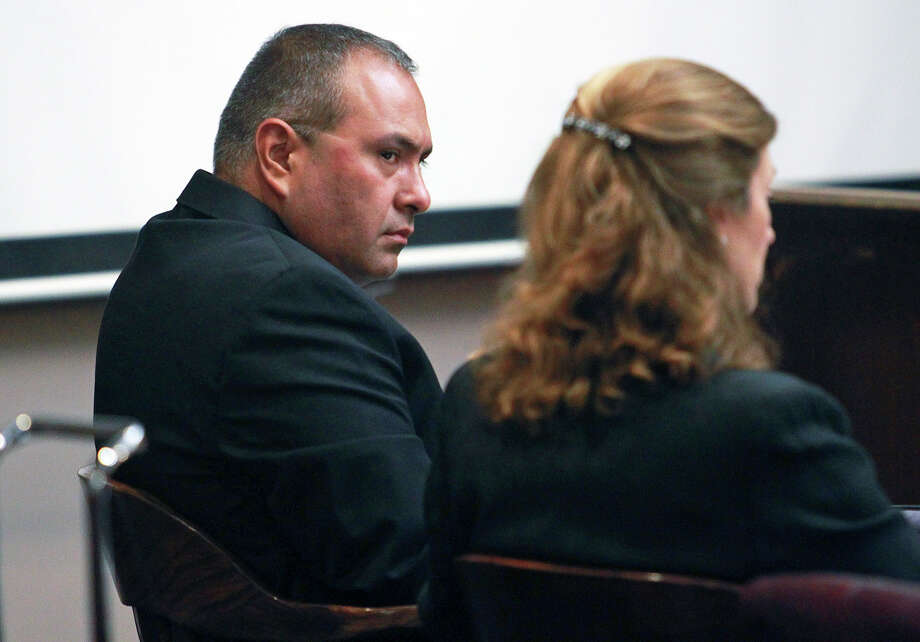 The defendant listens as trial proceedings begin for  Gilbert John Sullaway in his trial for criminal negligent homocide on August 29, 2012. Photo: Tom Reel, San Antonio Express-News / ©2012 San Antono Express-News