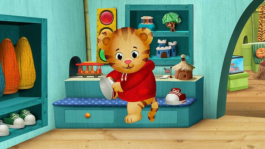 Ever-curious Daniel Tiger, 4, is the son of Daniel Striped Tiger. Photo: The Fred Roger's Co., PBS