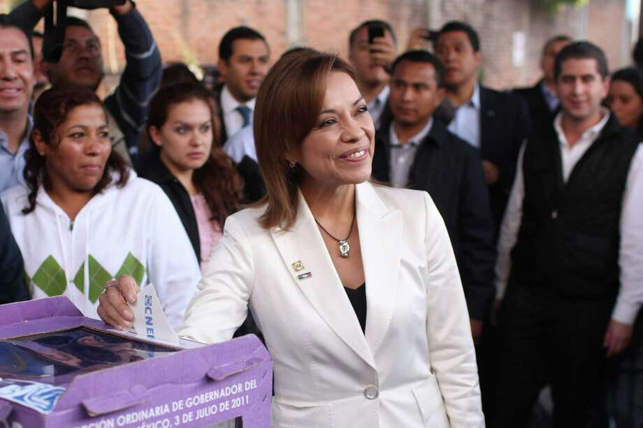 Josefina Vasquez Mota was the first female presidential candidate for Mexico's National Action Party. Photo: Alexandre Meneghini, Associated Press / AP