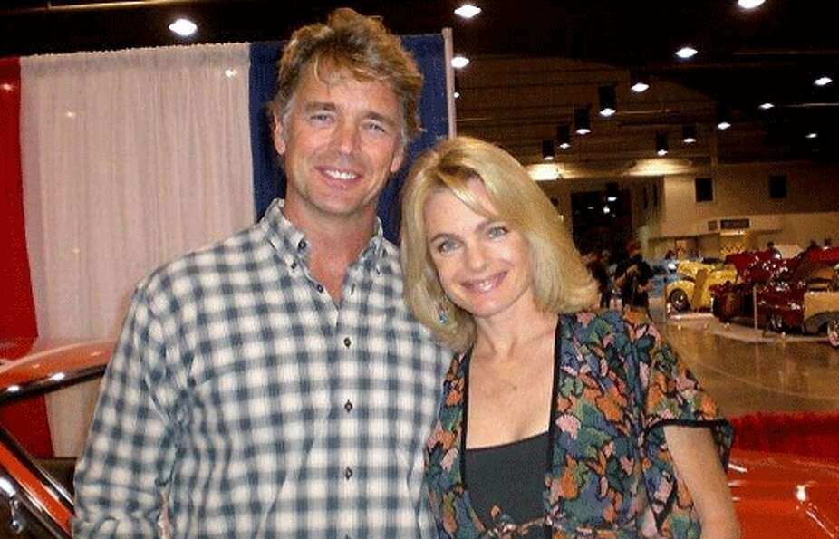 Here is Eleniak in a recent photo with John Schneider from The Dukes of Hazzard. The photo is from h