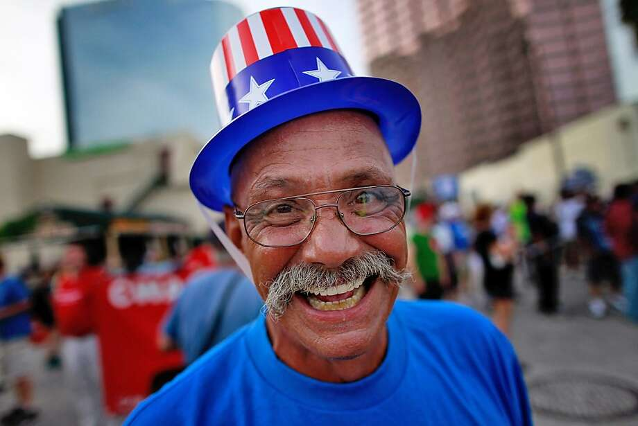 TAMPA, FL - AUGUST 29:  A protester takes part in the march that was put on by West Central Florida Federation of Labor to, in their words, 'demonstrate the reality of Mitt Romney's America' as the Republican National Convention continues at the Tampa Bay Times Forum on August 29, 2012 in Tampa, Florida. The Republican party delegates affirmed Mitt Romney as the party's nominee for President of the United States. Photo: Tom Pennington, Getty Images