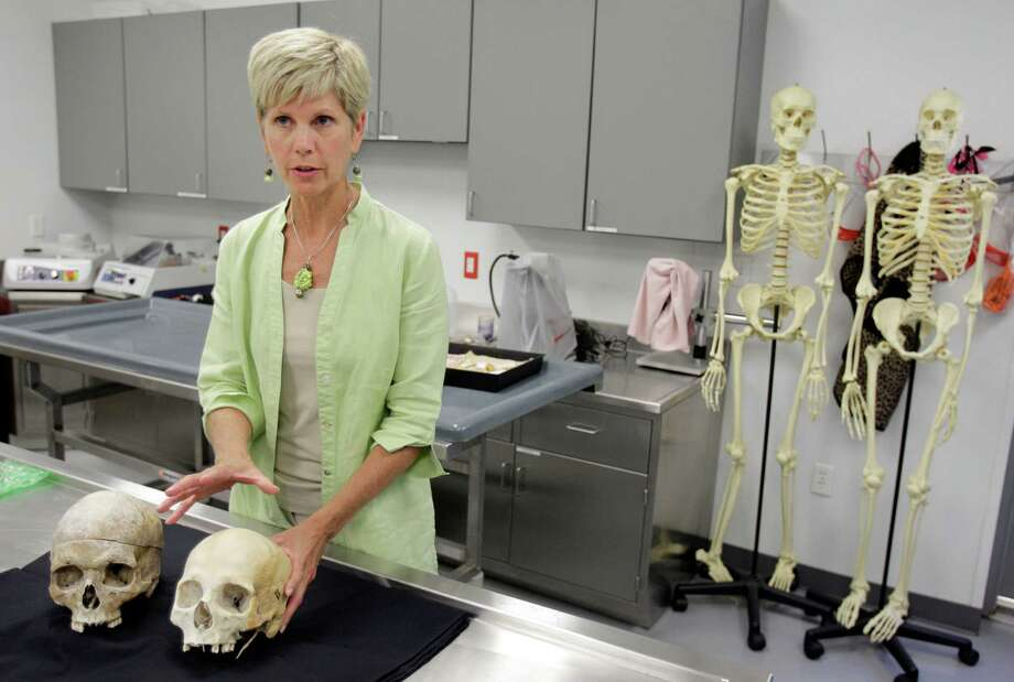 "Dr. Joan Bytheway, director of the Southeast Texas Applied Forensic Science Facility at Sam Houston State University in Huntsville, says human decomposition is ""not decay and disorder, it's a very, very orderly process."" Photo: Melissa Phillip / © 2012 Houston Chronicle"