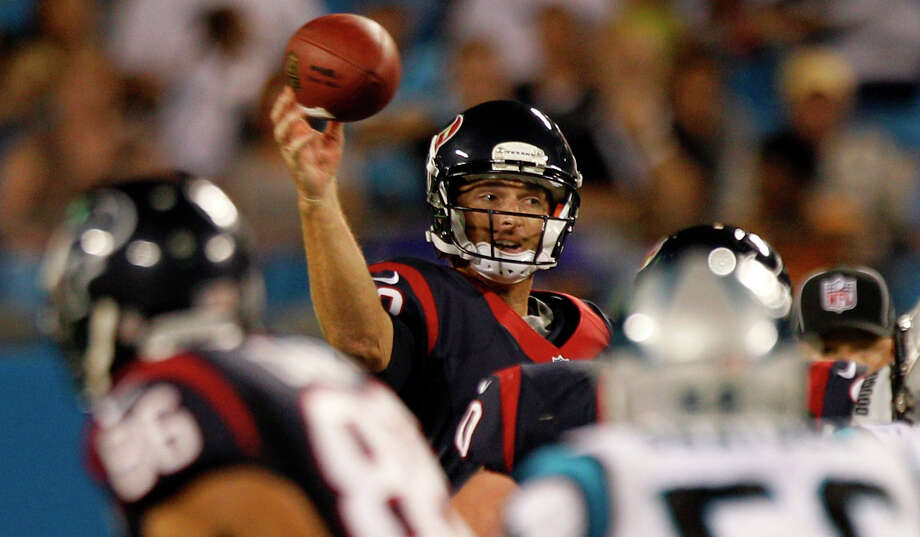If the Texans decide to keep John Beck as the third quarterback, they know they'll be getting an NFL veteran who has made seven starts in the league, including three last season with the Dolphins. Photo: Brett Coomer / © 2012  Houston Chronicle