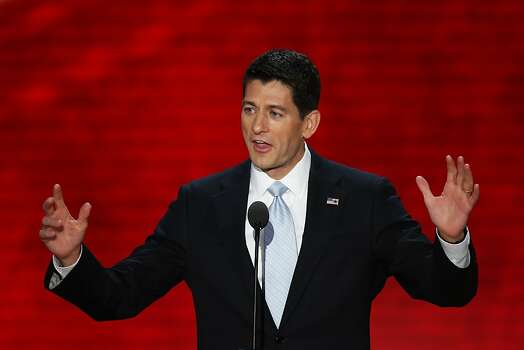 TAMPA, FL - AUGUST 29:  Republican vice presidential candidate, U.S. Rep. Paul Ryan (R-WI) speaks during the third day of the Republican National Convention at the Tampa Bay Times Forum on August 29, 2012 in Tampa, Florida. Former Massachusetts Gov. Former Massachusetts Gov. Mitt Romney was nominated as the Republican presidential candidate during the RNC, which is scheduled to conclude August 30. Photo: Mark Wilson, Getty Images