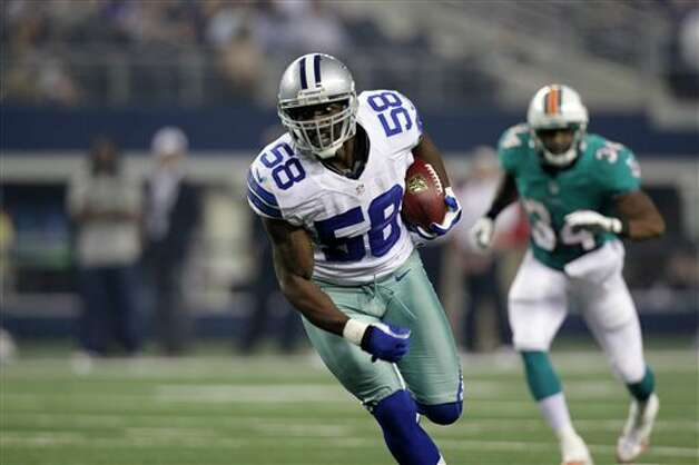 Dallas Cowboys linebacker Orie Lemon was placed on the injured reserve list with a hamstring injury on Nov. 7. He was active for five games after being called up from the practice squad in Week 3. Photo: LM Otero, Associated Press / AP