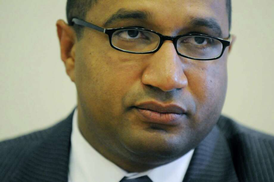 Albany County DA David Soares, speaks during a meeting with the Times Union editorial board, Monday, Aug. 27, 2012, at the Times Union in Colonie, N.Y. (Will Waldron / Times Union) Photo: Will Waldron