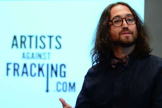 Artist Sean Lennon, John Lennon and Yoko Ono's son, attends the launch of Artists Against Fracking, an activist partnership project opposed to hydraulic fracking, at a press conference in New York, August 29, 2012. Artists Against Fracking is a new coalition of artists, musicians, filmmakers and public figures opposed to hydraulic fracking, which includes 146 members including Yoko, Ono, Sean Lennon, Lady Gaga, Paul McCartney, Salman Rushdie, Ringo Starr, David Bryne, Alec Baldwin, Marina Abramovic, Kronos Quartet, Cindy Sherman, MGMT, Wilco, Bonnie Raitt, Liv Tyler, Mario Batali, Roberta Flack, Mark Ruffalo, Uma Thurman, Joseph Gordon-Levitt and many others.  AFP PHOTO/Emmanuel DunandEMMANUEL DUNAND/AFP/GettyImages Photo: EMMANUEL DUNAND, AFP/Getty Images / AFP