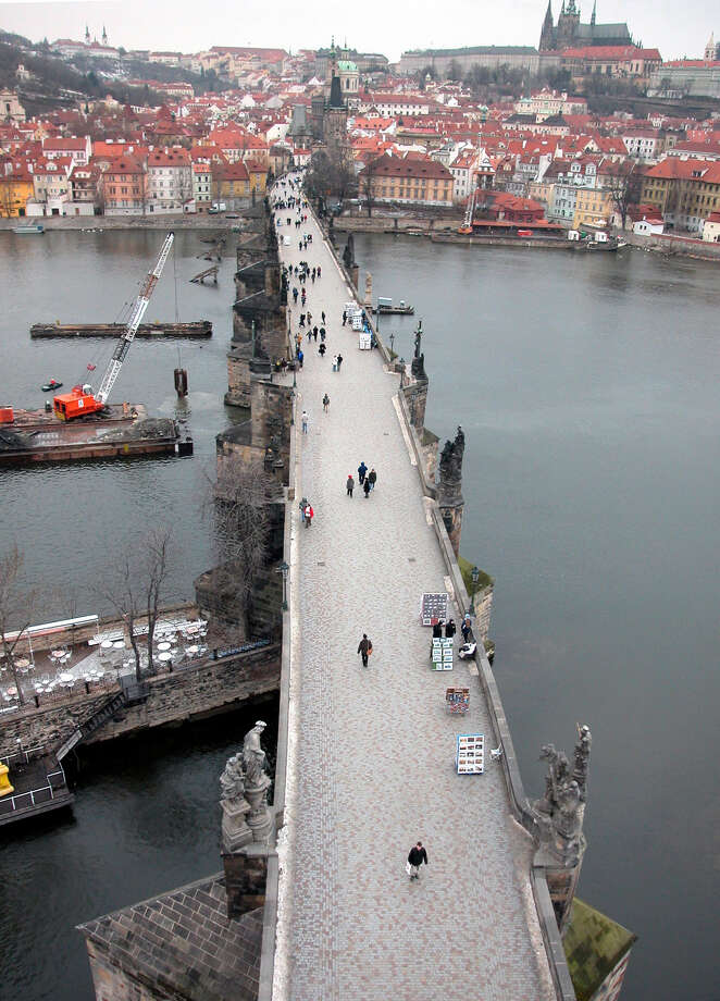 Construction on the Charles Bridge began in 1357. Statues of more than 30 saints were added over centuries. Photo: ALLEN HOLDER, KRT / KANSAS CITY STAR