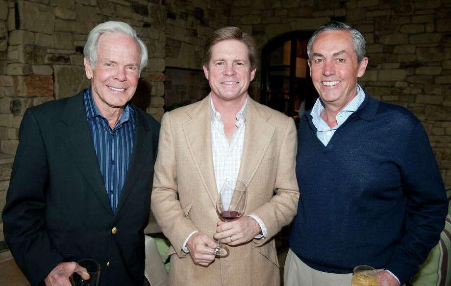 Jeff Smith,left, Jeff Hildebrand and Walt Mischer Photo: Memorial Hermann