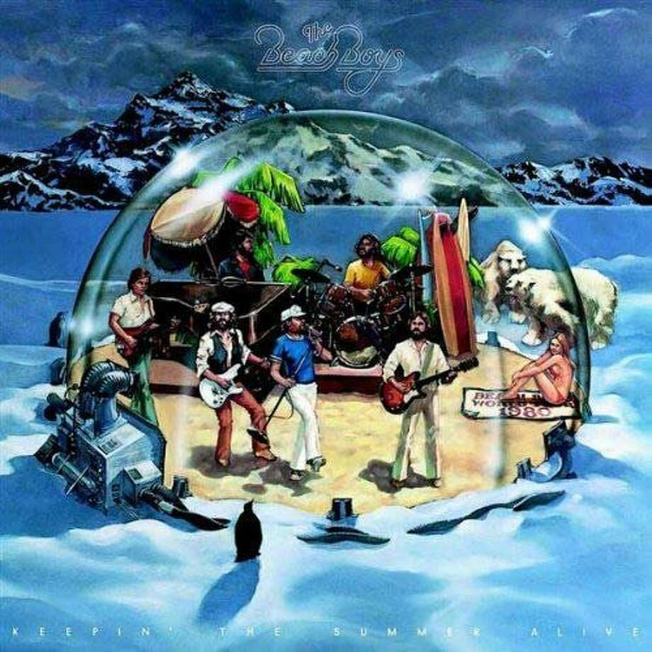 """Beach Boys, """"Keepin' the Summer Alive"""" (1980): Recorded with minimal involvement from Brian and Dennis Wilson, the only decent creative idea on evidence was sticking the band in a reverse snow globe on the cover."""