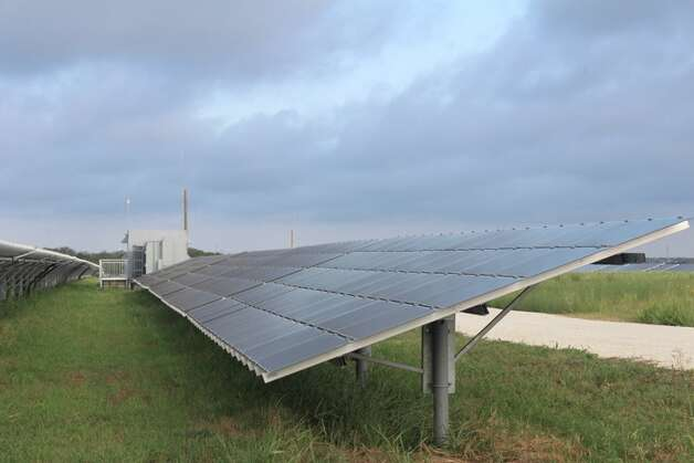 Blue Wing Solar Farm near the intersection of IH-37 and U.S. 181 has stationary panels that do not follow the sun. OCI Solar Power has not determined whether the 50 megawatts solar facility that is coming to San Antonio, via a contract between CPS Energy and OCI, will have stationary panels or tracking panels that follow the sun.