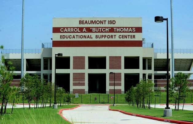 "The Beaumont ISD Carrol A. ""Butch"" Thomas Educational Support Center is prepared for football season in Beaumont, Thursday. Tammy McKinley/The Enterprise Photo: TAMMY MCKINLEY"