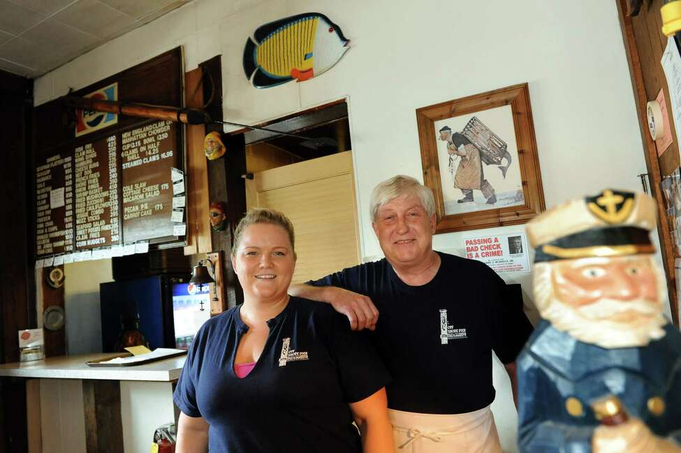 Owner David Meisner, right, and his daughter, Rachel, who's worked at the restaurant from the age of 12, on Tuesday, Aug. 28, 2012, at Off Shore Pier Restaurant in East Greenbush, N.Y. (Cindy Schultz / Times Union)