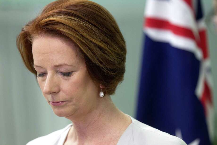 "Australian Prime Minister Julia Gillard said insider attacks, like the one that killed three soldiers, were ""corrosive of trust."" Photo: MARTY MELVILLE / AFP"