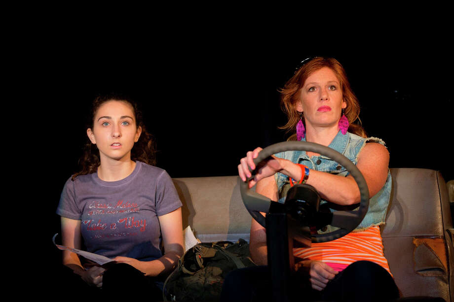 "Alexis Molnar as 15-year-old ""Lottie,"" left, and Kate Nowlin as her mother ""Donna"" in a scene from ìHarbor,î a world premiere now playing at Westport Country Playhouse through through Sept. 15. Photo: Contributed Photo / Westport News contributed"