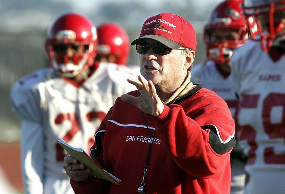 City College of San Francisco's football coach, George Rush during practice  in San Francisco, Ca., on Wednesday December 7, 2011. Rush a very successful coach is advancing the team to the state championship game this weekend. Photo: Michael Macor, The Chronicle
